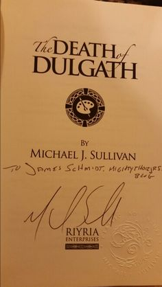 Just got my The Death of Dulgath stash! Very awesome! Thanks Michael J. Sullivan ! @author_sullivan  Blog post coming soon! https://mightythorjrs.wordpress.com #bookhaul #bookmail