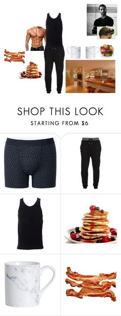 """""""good morning, I made breakfast ~Shane"""" by satandaughter ❤ liked on Polyvore featuring Uniqlo, McQ by Alexander McQueen, Simplex Apparel, Archipelago, men's fashion and menswear"""