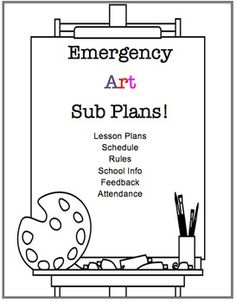 """For all of my fellow elementary, middle school, and high school level art teachers...I have created the ultimate and much needed bundle of emergency art substitute teacher plans. Not only does this include several lesson plans, but it also includes other resources.EACH FILE WAS CREATED IN WORD AND IS EDITABLE!!!***ZIP FILE***What is included in this bundle?Important Resources:1-Cover Sheet for Binder/Folder """"Art Sub Lesson Plans""""2-An attendance sheet (Contains up to 30+ lines for…"""