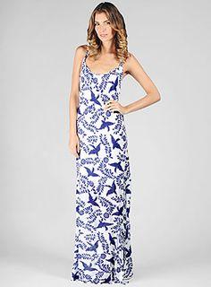 Ella Moss Official Store, ELLA-4323 Pajaro Slit Maxi Dress, ellamoss.com...LOVE THIS PRINT!!