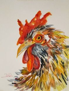 Chicken watercolor painting :  http://www.ebay.com/itm/Delilah-Rooster-6-original-farm-animal-art-watercolor-painting-chicken-EBSQ-/310630209274?pt=Art_Paintings=item485300d6fa