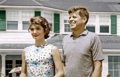 """thekennedysincolor: """"Jack and Jackie Kennedy, ca. 1950s """""""