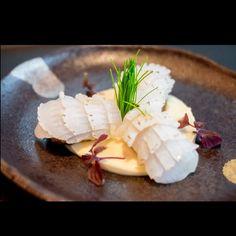 Aburi Ika with seafood mousse. celeriac purée . #armaniaqua #aquatokyo #foodstarz #foodart #foodstyling #foodphotography #top_food_of_instagram #chefstalk #chef #cheflife #gastroart #foodporn#seafood#hkfood#healthy#foodie