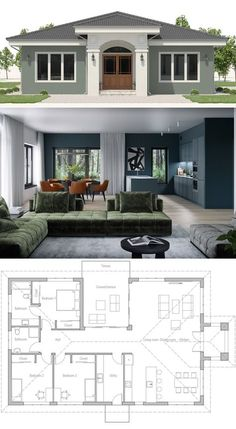 House Plan House Plan Small House Plan in classical architecture Related posts:hotel floor plan Courtesy of ProgettoCMR -First Floor Plan - Hotel floor planSmall Lot 4 Bedrooms duplex design 3d House Plans, Small House Floor Plans, House Layout Plans, Home Design Floor Plans, Family House Plans, House Blueprints, Dream House Plans, House Layouts, Small Modern House Plans