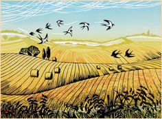 Rob Barnes, Norton Way Gallery Hertfordshire Farm Art, Watercolor Drawing, Pen Art, Linocut Prints, Woodblock Print, Beautiful Paintings, Art World, Animal Drawings, Art Inspo