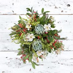 Holiday Sweater | A Holiday Themed, Mixed Flower Bouquet