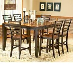 Cooper 7-pc Counter-height Dining Set Counter-height Table and Six Counter Chairs - Click pics for price <3