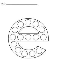 Letter E Do-A-Dot Printables - Uppercase & Lowercase! Letter E Activities, Letter E Worksheets, Fun Activities For Preschoolers, Dot Letters, Upper And Lowercase Letters, Lowercase A, Teaching Letters, Preschool Letters, Preschool Crafts