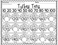 Tons of Kindergarten math and literacy activities for November!