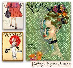 Fabulous Doodles-Brooke Hagel-Fashion Illustration Blog: Vintage Vogue Fashion Illustration Covers