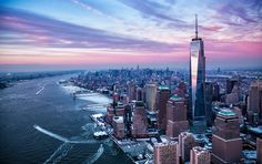 """Say hello to One World Trade Center! 13 years after Twin Towers attacks, World Trade Centre has finally now reopened for business. """"The New York City skyline is whole again,"""" says Patrick Foye. One World Trade Center, Trade Centre, San Diego, San Francisco, Monuments, Nashville, Nova Orleans, Empire State Of Mind, City Buildings"""