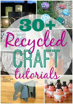 30 Plus Recycled Crafts - * THE COUNTRY CHIC COTTAGE (DIY, Home Decor, Crafts, Farmhouse)