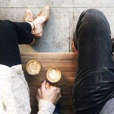 A little bit of coffee and hand holding.