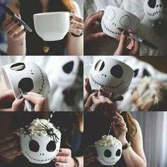 DIY Jack Skellington Mug! Too Cute!!