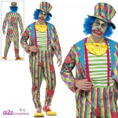 Classic Costume Cosplay Halloween Fancy Dress Game Clown Outfit Men Cool Jacket