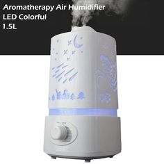 1.5L Aromatherapy diffuser air humidifier LED Night Light With Carve Design Ultrasonic humidifier air Aroma Diffuser mist maker