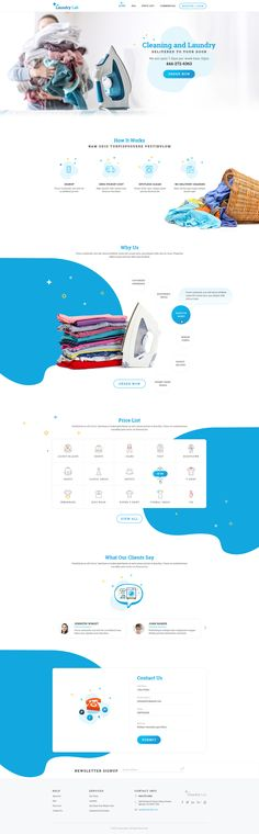 """Check out my @Behance project: """"Laundry Website UI"""" https://www.behance.net/gallery/54040267/Laundry-Website-UI"""