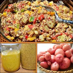 Creamy Vegan Red Potato Salad with Quinoa