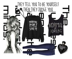 """""""Normal is boring"""" by soccerbabe9 ❤ liked on Polyvore featuring Levi's, Lipsy and Skullcandy"""