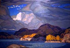 Group of Seven: A. Casson: October - Film Photograph of the Original Group Of Seven Art, Group Of Seven Paintings, Group Art, Traditional Landscape, Traditional Paintings, Franklin Carmichael, Ontario, Tom Thomson, Canadian Artists