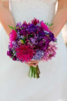 purple and orange wedding flowers - Google Search
