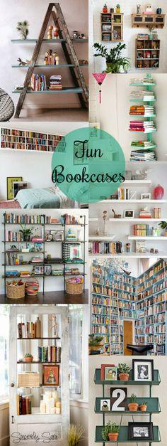 Inspiration: Fun Bookcases