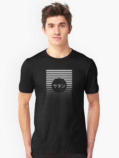 Minimalistic abstract design featuring stripes and Japanese text