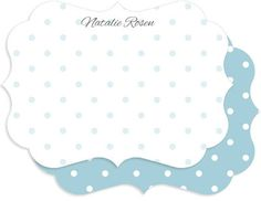 Personalized Ice Blue Dot Stationery