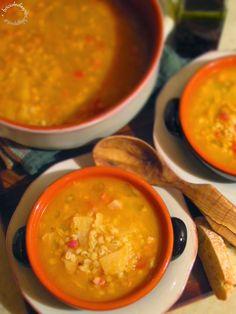 Briciole di Sapori           : Zuppa di orzo con patate e pancetta affumicata