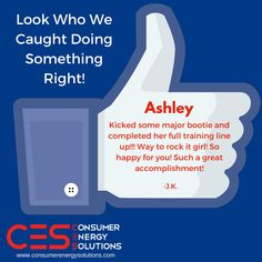 We're always super thrilled when we catch our guys doing something right! Congratulations Ashley!  Looking to be part of a great team? Consumer Energy Solutions is #hiring! Call 727-748-1700 today, ask for Ruby!   Apply online at: http://www.consumerenergysolutions.com/jobs/?utm_content=buffer3f54c&utm_medium=social&utm_source=pinterest.com&utm_campaign=buffer  #CES #Jobs #Money #Sales