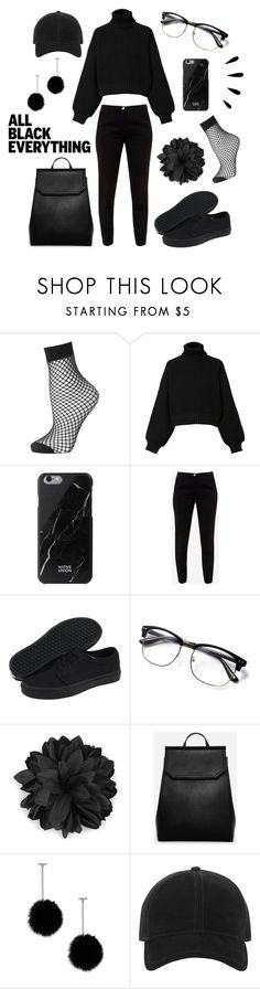 """All Black Everything"" by alva01 on Polyvore featuring Topshop, Diesel, Native Union, Ted Baker, Vans, Gucci, CHARLES & KEITH, tuleste market, rag & bone and Old Navy"