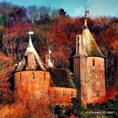 Castell Coch, Wales That's a charming one in autumn…