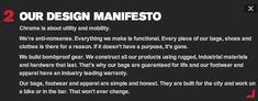 chrome bag company design manifesto
