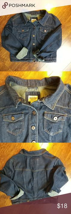 Mossimo Supply Co cropped denim jacket This cute denim jacket has a slightly shorter fit. It is a pretty dark blue and has a little stretch as well. Great condition! Mossimo Supply Co. Jackets & Coats Jean Jackets