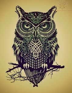 Chad & I have found our matching owl tattoo design we want! We've been wanting one for a while now and we love what the owl stands for! :)