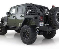 Smittybilt CRES - Cargo Restraint System in Black for 07-09 Jeep Wrangler Unlimited JK 4 Door