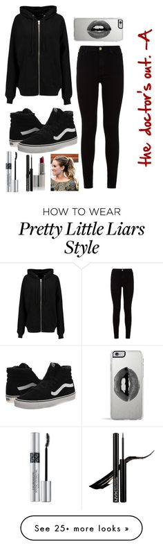"""""""Halloween costume idea: A from Pretty Little Liars"""" by jadeee-catherine on Polyvore featuring BLK DNM, 7 For All Mankind, Vans, Lipsy and Christian Dior"""