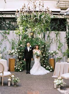 Classic romance meets elegant greenery in this French courtyard inspired wedding for 20 guests in Vancouver. With microweddings on the rise, it is easy to see the allure of more intimate fetes. From personalized macaron favors to fancy cane back chairs to hand-drawn calligraphy invitation suites, there is no shortage of luxury for weddings with smaller guest counts. See Kristine and Sherman wed in style on Ruffled now! #greeneryinspiration #dogofhonor #weddingcakeinspo #sagegreenwedding Wedding Trends, Wedding Designs, Wedding Blog, Wedding Ideas, French Courtyard, Sage Green Wedding, Photo Backdrops, Event Design, Bridal Gowns