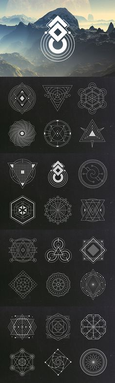 Sacred Geometry Vectors | Graphic Design Elements | Geometric Vector Clipart Images | Blog Graphics | Web Design | Branding Niche | Blogging | Business | Art                                                                                                                            More