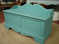 Vintage Reclaimed Pine Robin Egg Paint Bench by CURIOSITYNC, $295.00