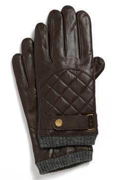 Winter essential for men   Ralph Lauren quilted gloves.