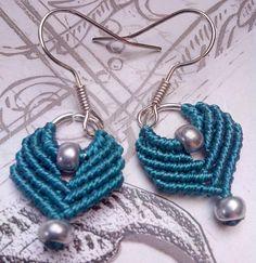 Boucles d'oreilles micro-macramé 100% fait main : Boucles d'oreille par choubidou-et-compagnie https://www.facebook.com/Choubidou-et-compagnie-921464467972403/
