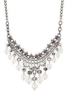 14th & Union Pearl & Bead Drop Frontal Necklace