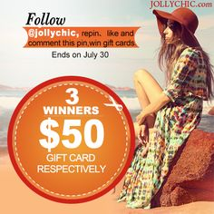 jollychic giveaway.