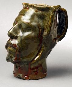 Jug in the Form of a Head, Self-portrait, Gauguin, 1889. Kunstindustrimuseet, Copenhagen.