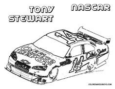 cars coloring page car coloring pages of nascar tony stewart 14 disney coloring