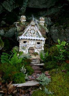 ♧ Charming Fairy Cottages ♧ garden faerie gnome & elf houses & miniature furniture - Fairy garden house