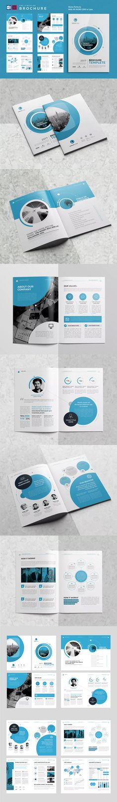 Co Brochure Template InDesign INDD MS Word A4