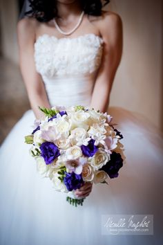 #bridal #bouquet #white #purple #blue #lavender More wedding ideas at www.facebook.com/...