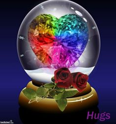 I LOVE THIS CRYSTAL HEART IN A WATERGLOBE. IT'S SOO COLORFUL !!!!